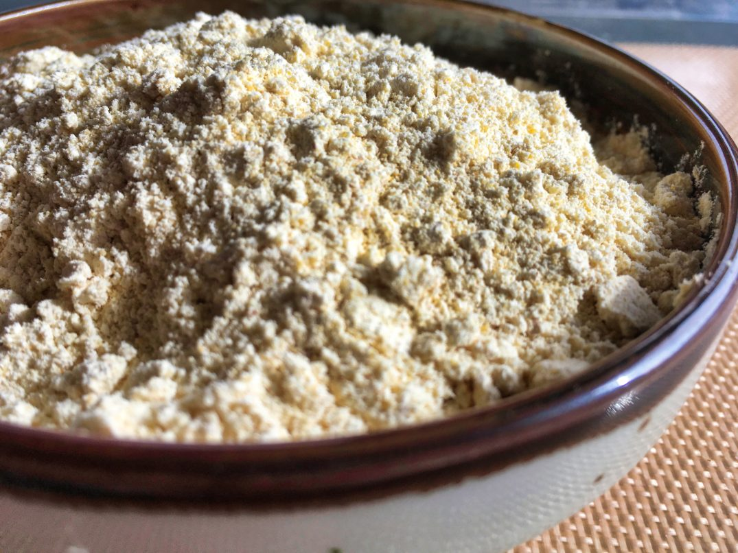 A bowl of chickpea flour